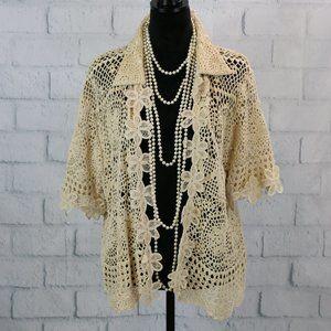 Vintage Nicole Marie Crochet Blouse